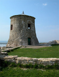 "Stone tower of Elabuga fortress, the so-called ""Devil's fort"""